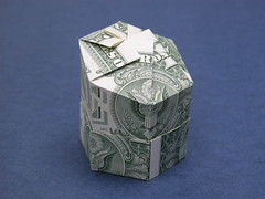 Two dollar splitting the tab box (FJ Contreras) Tags: money origami box hexagonal dollar orikane