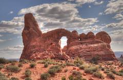 Arches NP - Turret Arch [Explored] (zendt66) Tags: park travel vacation usa southwest utah nikon arches national archesnationalpark hdr turretarch d90 photomatix amercan photomatrix zendt66