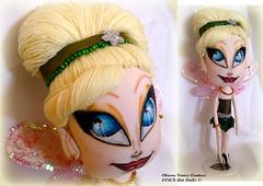 Tinkerbell (Chiara Venice Art Dolls) Tags: art fairytale bigeyes wings doll dolls handmade ooak tinkerbell peterpan sparkle artdolls fairy neverland fairydust clothdoll clothdolls ooakdolls artdollsonly pixihollow