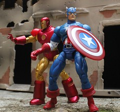 Iron Man and Captain America (rodstoybox) Tags: man america comics iron ironman legends marvel captainamerica captian