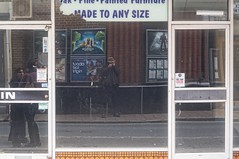 Me. Made to Any Size. (pigpogm) Tags: reflection window shop photos barnstaple selfie pigpogm industar50 mxpp