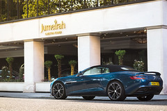 Teal. (Alex Penfold) Tags: blue green london cars alex car martin teal super knightsbridge autos supercar aston volante supercars vanquish penfold