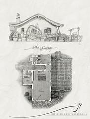 Artist Cottage 2013 (SirInkman) Tags: white house black building ston