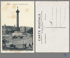 PARIS - La Bastille, Colonne de Juillet (bDom) Tags: paris 1900 oldpostcard cartepostale bdom