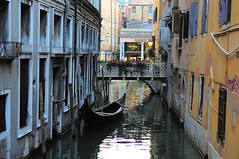 Cozy channel (Zzmeika) Tags: travel bridge venice italy house water boat gondola channel