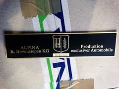 BMW ALPINA 323 - 849 (bmw_alpina_teile) Tags: 2002 bavaria sticker alpina plate turbo dash 25 bmw b2 23 vin 28 decal e3 m3 a4 35 27 c2 console 325i e6 b7 csl e30 neue klasse aufkleber e9 320 nk b6s tii e34 c1 e10 b12 e36 biturbo e20 e32 b3 b9 e28 323i b6 320i e39 b11 b10 e21 e12 e23 e24 e31 b8 typenschild a4s bovensiepen