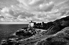 Livorno_12S (Dubliner_900) Tags: sigma1020mm456 livorno leghorn tuscany toscana sea seashore seascape mare cloud nuvole landscapes paesaggio biancoenero castellodelboccale castello castle d7000 landscape bw paesaggi nikon