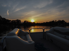 Yes (Lake Effect) Tags: sunset river boat indiana elkhart pontoon stjosephriver 176365