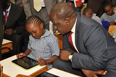 This young girl appears to be giving a lesson or two to the CS