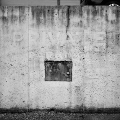 Oregon City (austin granger) Tags: sign wall private time geometry decay parking faded impermanence weathered oregoncity gf670 austingranger