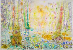 Into the alder marsh (Jos van Wunnik) Tags: art forest drawing marsh alder aquarel josvanwunnik