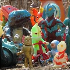 "Trikes for ""Mike"" (toothaction) Tags: baby toys glow m1 tricycle mini peter glowinthedark trike dada eiji minis ultraman toho nise booska repro goga baltan bullmark ultraseven sofubi ultraq m1go gorgos mongler eijitsuburaya dellrose utom m1 gogla m1g0 ultramannise mongura yujimade"