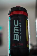 A new fan (backonthebus) Tags: water bicycle race fan bottle story bmc