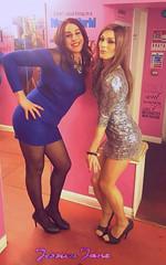 Pink Room Pair (jessicajane9) Tags: tv cd tights fem tgirl transgender lgbt transvestite crossdresser ts tg nylons minidress m2f feminized