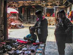 Old stuff in the courtyard (Bruno Zaffoni) Tags: china yunnan hdr cina jianshui