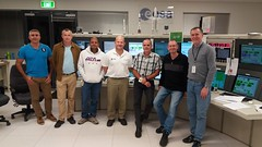 Engineering team at New Norcia for VS15 (ESA_events) Tags: new space australia western tracking esa galileo norcia soyuz vs15 estrack