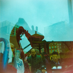 (morelcarly) Tags: street manchester holga lomo lofi multiple dreamy analogue exposures