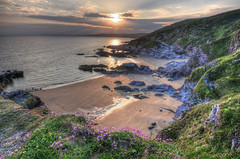 Sunset at Sharrow Point, Whitsand Bay, Cornwall (Baz Richardson (trying to catch up!)) Tags: coast cornwall sunsets cliffs whitsandbay sandybeaches sharrowpoint