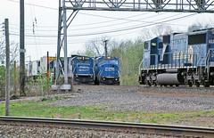 Conrail Three Pack (craigsanders429) Tags: railroadtracks conrail berea passingtrains bereaohio conraillocomotives conrailinberea conrailchicagoline conrailtrains conrail5620 conrail5010 conrail5535