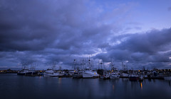Clouds lumming over (Dtek1701) Tags: longexposure nightphotography sky water weather clouds marina dark boats outside fuji sandiego pacificocean slowshutter bluehour southerncalifornia westcoast ultrawide xseries apsc xt1 mirrorless remotetrigger xshooter benrotripod xmount xflens xtranssensor fujinonxf1024f4ois