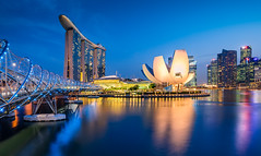_MG_5548_web - Singapore Marina Bay skyline (AlexDROP) Tags: city travel light urban colour water skyline architecture night singapore postcard famous best bluehour scape picturesque iconic hdr mustsee 2015 canon6d ef16354lis