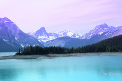 Nature at its best (Maja's Photography) Tags: blue wild snow canada mountains green nature water forest canon walking landscapes wildlife scenic trails alberta wilderness