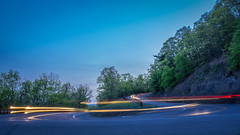 Sharp Turn (Kristina Quinones) Tags: road street blue light color car composite night painting lights long exposure trails roads curve 500px ifttt kristinaquinones kristinaquinonesphotography