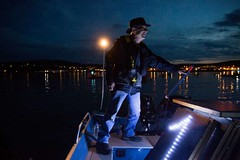Small Bruce at Luminary flotilla Seattle PI and associated press at Break Free PNW 2016 photo by GRANT HINDSLEY (Backbone Campaign) Tags: water justice washington energy kayak break action politics protest creative paddle shell free social demonstration oil change wa environment activism anacortes campaign pnw refinery climatechange climate tesoro artful backbone renewable refineries 2016 kayaktivist kayaktivism breakfreepnw