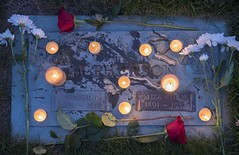 160617_0006_1 (Bruce McPherson) Tags: brucemcphersonphotography remembering remembrance forestlawncemetery candles dusk dark aftersunset twilight outdoor cemetery burnaby bc canada
