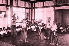 Kendo classes in Nantou normal/senior elementary school - 1913 (SSAVE w/ over 5 MILLION views THX) Tags: students taiwan martialarts elementaryschool kendo formosa 1913 nantou japaneseoccupation