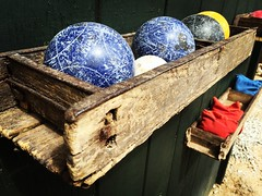 Bocce Ball (tay.burch) Tags: wood old game ball worn bocce distressed bigbear noonlodge