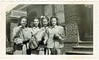 April 10, 1947 (sctatepdx) Tags: snapshot teenagers vernacular 1947 vintageclothes oldsnapshot vintagepurse vintageteenagers vintagesnapshot