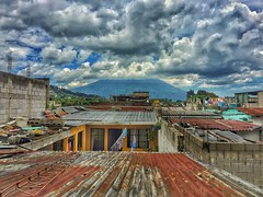 Over the rooftops (Pejasar) Tags: guatemala volcano
