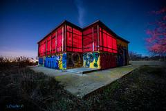 Heating da House. (darklogan1) Tags: madrid longexposure nightphotography urban graffiti logan darklogan1
