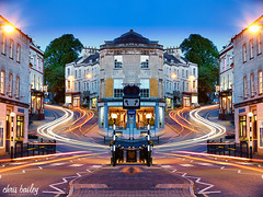 Bath Street, Frome (Chris Bailey Photographer) Tags: road street city uk longexposure blue chris sky southwest color colour skyline architecture canon stars town twilight bath long cityscape outdoor somerset headlights hour bailey slowshutter lighttrails bluehour mirrorimage towncentre frome 2015 bathstreet flickraward frometown bluehourphotography fromeuk