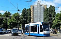 Victorie! (Peter ( phonepics only) Eijkman) Tags: city holland netherlands amsterdam transport nederland tram rail rails trams strassenbahn noordholland gvb tramtracks streetcars combino nederlandse