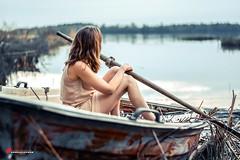 """Sinking boat"" (salas-3) Tags: photography scape creative story boat pohjanmma suomi finland 18 nikon dress model woman"