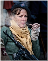 A condor moment (Hugh Stanton) Tags: scarf french gun smoke pipe machine cap resistence
