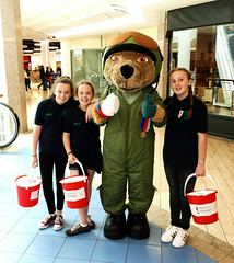 HELP FOR THE HEROES CHARITY EVENT (forkcandles) Tags: charity blue red green bristol for uniform bears volunteers indoors galleries buckets raf the shopping mall heroes help service fz1000 forkcandles fz1000panasoniccamera personell