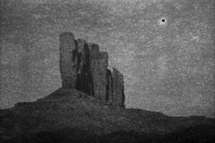Black Sun, Camel Butte (LowerDarnley) Tags: arizona southwest utah butte 6x9 blacksun monumentvalley plasticcamera 620film expiredfilm stylex navajonation camelbutte dandipan herbertgeorgecameraco