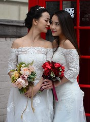 Brides (pjpink) Tags: uk wedding england white london spring dress britain lace may parliamentsquare brides lacy 2016 pjpink