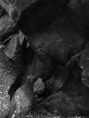 erosion art (l e o j) Tags: mountain abstract nature rock japan forest erosion valley miyazaki gorge 岩 石 iphone 宮崎 日南 白黒 岩石 モノクローム nichinan keikoku アブストラクト iphoneography inohae 猪八重渓谷