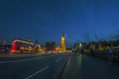 Elizabeth Tower (www.javierayala-photography.com) Tags: bridge england bus london parliament bigben fisheye londres doubledecker elizabethtower