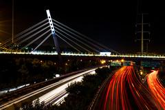 La beaut de ton coeur, m'a rendu fou de toi. (- Ali Rankouhi) Tags: bridge light night eyes highway iran trail your tehran  hemmat