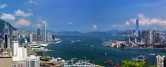 () Tags: skyline skyscraper hongkong harbor hill victoria  icc ifc braemar