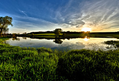 Panorama in Green (W_von_S) Tags: trees sunset sky panorama sun lake reflection green water grass backlight clouds reflections germany landscape bayern deutschland bavaria see spring wasser sonnenuntergang outdoor sony himmel wolken april gras grn paysage landschaft sonne bume spiegelung paesaggio sunray werner frhling reflexionen gegenlicht 2016 ebersberg steinhring sonnenstern bergerlacke wvons alpha7rm2 panoramaingreen