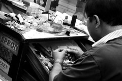 Repairs (appropos) Tags: people working repairs watchmaker horologist watchshop
