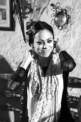 Zambra Dancer (Danieldevad) Tags: portrait woman white black blanco beauty smile mujer eyes artistic retrato negro creative dancer ojos sonrisa gypsy flamenco belleza bailarina sacromonte artistico gitana zambra creativo