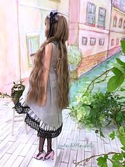 momoko ae [A-F] LIZ back style  (cute-little-dolls) Tags: liz toy doll af hairstyle collaboration ae petworks momokodoll