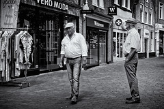 The Waiting (Alfred Grupstra Photography) Tags: street people blackandwhite bw man nederland streetphotography streetlife nl noordholland schagen
